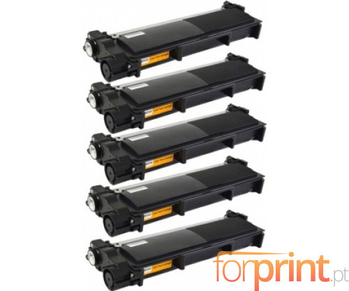 5 Toners Compativeis, Brother TN-2320 Preto ~ 2.600 Paginas