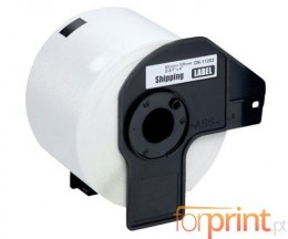 Etiquetas Compativeis, Brother DK11202 62x100mm branco 300 / Rolo