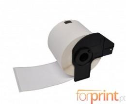 Etiquetas Compativeis, Brother DK22211 29mm x 15.24m Rolo Branco Papel