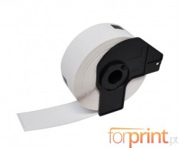 Etiquetas Compativeis, Brother DK11219 12 mm Redondas 1.200 / Rolo branco