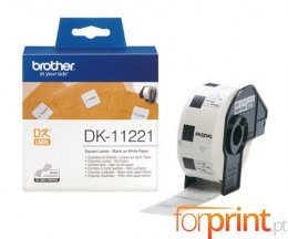 Etiquetas Originais, Brother DK11221 23mm x 23mm 1000 etiquetas