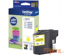 Tinteiro Original Brother LC221Y Amarelo 3.9ml ~ 260 Paginas