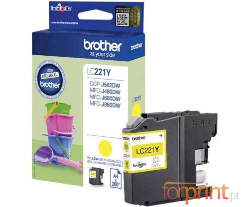 Tinteiro Original Brother LC221Y Amarelo 3.9ml ~ 260 Paginas