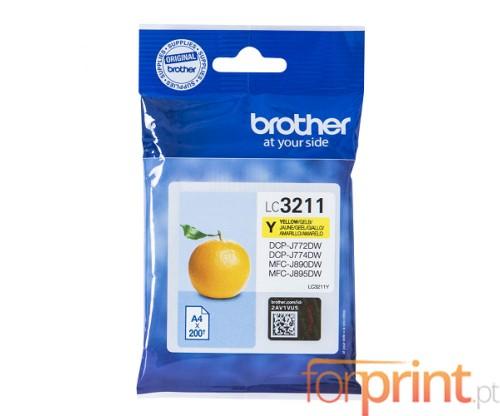 Tinteiro Original Brother LC3211Y Amarelo ~ 200 Paginas