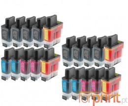 20 Tinteiros Compatíveis, Brother LC-900 Preto 20ml + Cor 12ml