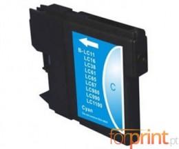 Tinteiro compatível Brother LC-980 XL C / LC-1100 XL C Cyan 18ml