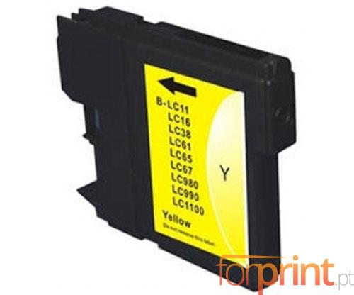 Tinteiro Compativel Brother LC-980 XL Y / LC-1100 XL Y Amarelo 18ml