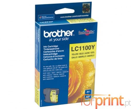 Tinteiro Original Brother LC1100Y Amarelo 5.5ml ~ 325 Paginas