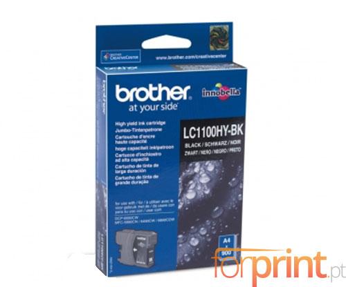 Tinteiro Original Brother LC1100HYBK Preto 19ml ~ 900 Paginas