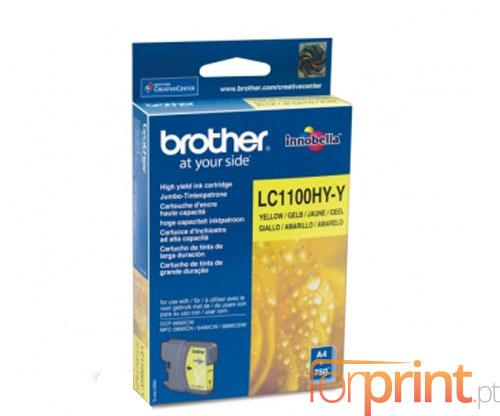 Tinteiro Original Brother LC1100HYY Amarelo 10.1ml ~ 750 Paginas