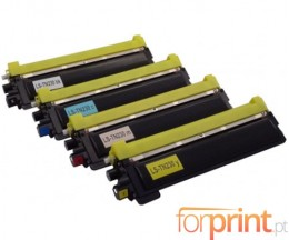 4 Toners Compativeis, Brother TN-230 Preto + Cor ~ 2.200 / 1.400 Paginas