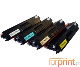 4 Toners Compativeis, Brother TN-325 / TN-320 / TN-328 Preto + Cor ~ 6.000 / 3.500 Paginas