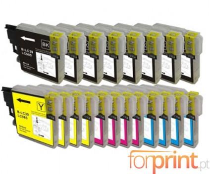 20 Tinteiros Compativeis, Brother LC-985 XL Preto 28ml + Cor 18ml
