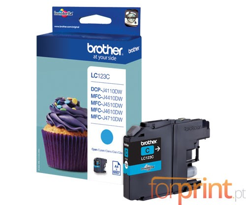Tinteiro Original Brother LC123C Cyan 6.6ml ~ 600 Paginas