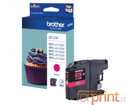 Tinteiro Original Brother LC123M Magenta 6.6ml ~ 600 Paginas