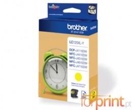 Tinteiro Original Brother LC125XLY Amarelo 13.1ml ~ 1.200 Paginas
