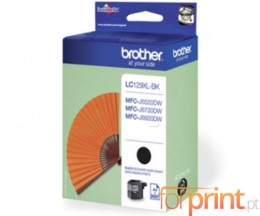 Tinteiro Original Brother LC129XL-BK Preto 50ml ~ 2.400 Paginas