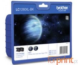 2 Tinteiros Originais, Brother LC1280XL-BK 72.6ml ~ 2.400 Paginas