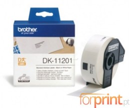 Etiquetas Originais, Brother DK11201 29mm x 90mm 400 / Rolo Branco