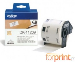 Etiquetas Originais, Brother DK11209 29mm x 62mm 800 / Rolo Branco