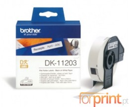 Etiquetas Originais, Brother DK11203 17mm x 87mm 300 / Rolo Branco