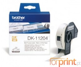Etiquetas Originais, Brother DK11204 17mm x 54mm 400 / Rolo branco