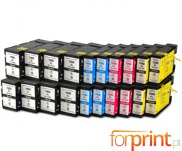 20 Tinteiros Compativeis Canon PGI-1500 Preto 36ml + Cor 11.5ml