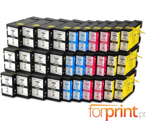 30 Tinteiros Compativeis Canon PGI-1500 Preto 36ml + Cor 11.5ml