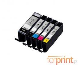 5 Tinteiros Compativeis, Canon PGI-570XL Preto 22ml + CLI-571XL Cor 11ml