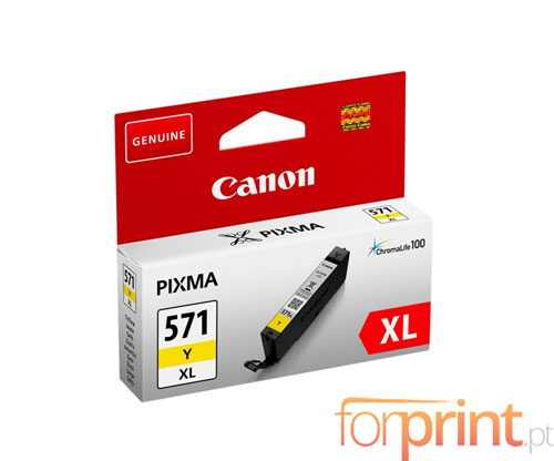 Tinteiro Original Canon CLI-571XL Amarelo 11ml