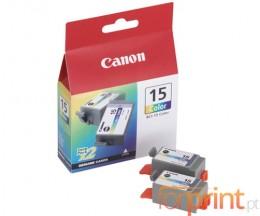 2 Tinteiros Originais, Canon BCI-15 Cor 7.5ml