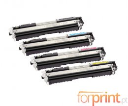 4 Toners Compativeis, Canon 729 Preto + Cor ~ 1.200 / 1.000 Paginas