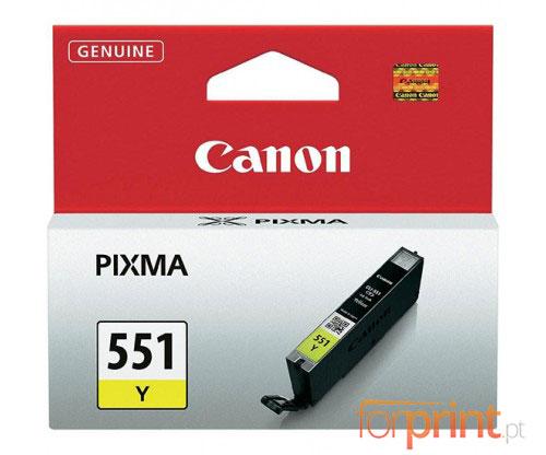 Tinteiro Original Canon CLI-551 Amarelo 7ml
