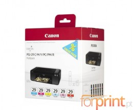 6 Tinteiros Originais, Canon PGI-29 C / M / Y / PC / PM / R