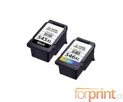2 Tinteiros Compativeis, Canon PG-545 / CL-546 Preto 16ml + Cor 14.5ml