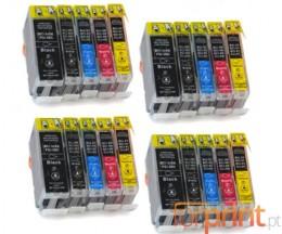 20 Tinteiros Compativeis, Canon BCI-3 / BCI-6 Preto 26.8ml + Cor 13.4ml