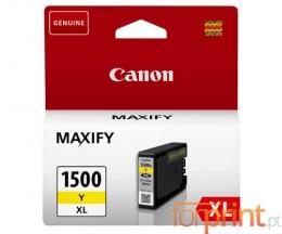 Tinteiro Original Canon PGI-1500 XLY Amarelo 12ml ~ 1.000 Paginas