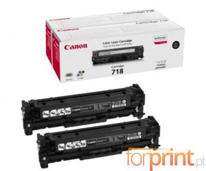 2 Toners Originais, Canon EP-718 Preto ~ 3.400 Paginas
