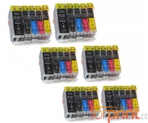 30 Tinteiros Compativeis, Canon BCI-3 / BCI-6 Preto 26.8ml + Cor 13.4ml