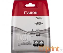 2 Tinteiros Original Canon PGI-520 Preto 19ml