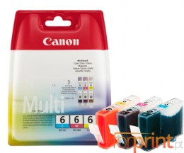 3 Tinteiros Originais, Canon BCI-6 Cor 13ml