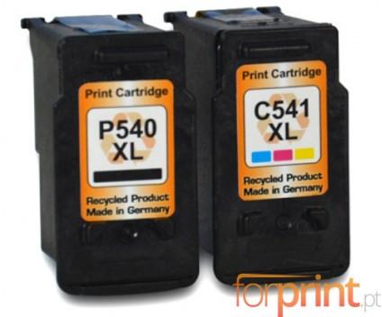 2 Tinteiros Compativeis, Canon PG-540 XL / CL-541 XL Preto 24ml + Cor 21ml