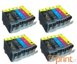 20 Tinteiros Compativeis, Canon PGI-5 / CLI-8 Preto 26.8ml + Cores 13.4ml