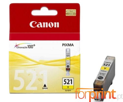Tinteiro Original Canon CLI-521 Amarelo 9ml ~ 477 Paginas
