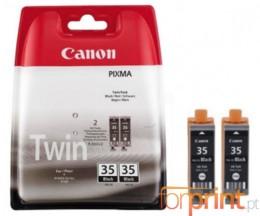 2 Tinteiros Originais, Canon PGI-35 Preto 9.3ml