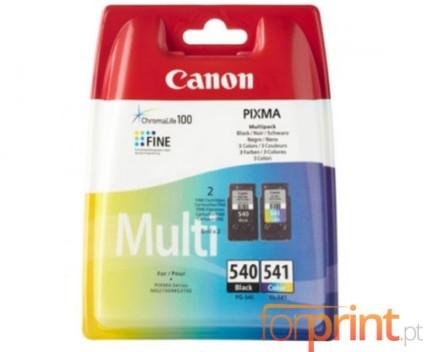 2 Tinteiros Originais, Canon PG-540 / CL-541 Preto 8ml + Cor 8ml