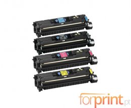 4 Toners Compativeis, Canon 701 Preto + Cor ~ 5.000 / 4.000 Paginas