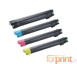 4 Toners Compativeis, DELL J6DTH / 6YJGD / 8N8JV / F5Y6V Preto + Cor ~ 26.000 / 15.000 Paginas