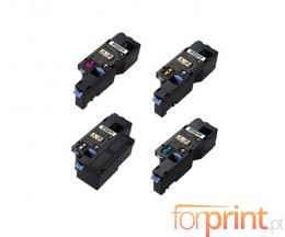 4 Toners Compativeis, DELL 593BBLX Preto + Cor ~ 2.000 / 1.400 Paginas
