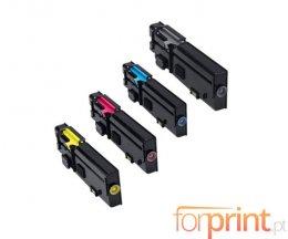 4 Toners Compativeis, DELL 593BBBX Preto + Cor ~ 6.000 / 4.000 Paginas
